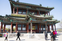 Asia China, Beijing, the Summer Palace, royal garden, spring scenery, Jingming building Royalty Free Stock Image