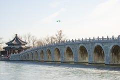Asia China, Beijing, the Summer Palace, Seventeen hole bridge Royalty Free Stock Photo