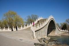 Asia China, Beijing, the Summer Palace, spring scenery,Xiu Yi Bridge Royalty Free Stock Photo