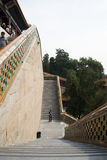 In Asia, China, Beijing, the Summer Palace, Tower of Buddhist Incens, the high steps Stock Photo