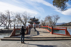 Asia China, Beijing, the Summer Palace, winter architecture and landscape Royalty Free Stock Photo
