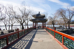 Asia China, Beijing, the Summer Palace, winter architecture and landscape Stock Photography