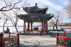 Asia China, Beijing, the Summer Palace, winter architecture and landscape Royalty Free Stock Images
