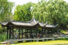 Asia China, Beijing, Taoranting Park,Garden building, The Long Corridor Royalty Free Stock Photography