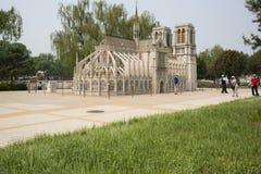 Free Asia China, Beijing, The World Park, Miniature Landscape, Notre Dame De Paris Royalty Free Stock Images - 53597289