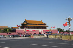 In Asia, China, Beijing, The Tian'anmen Rostrum Royalty Free Stock Photography