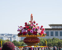 In Asia, China, Beijing, Tiananmen square, the festival flower basket, National Museum Royalty Free Stock Photography