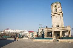 Asia China, Beijing, Tianqiao Performing Arts District,The clock tower Stock Photo