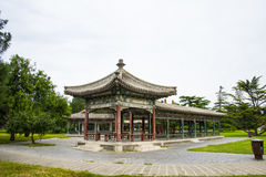 Asia China, Beijing, Tiantan Park,Pavilion, Gallery Stock Image