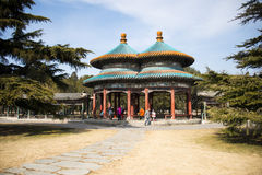Asia China, Beijing, Tiantan Park, historic buildings,Double Pavilion Royalty Free Stock Photo