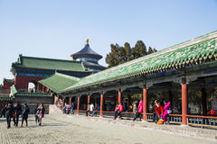 Asia China, Beijing, Tiantan Park, historic buildings,The Long Corridor Stock Images