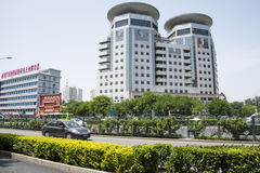 Asia China, Beijing, urban transportation, modern buildings Stock Photos