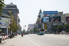Asia, China, Beijing Wangfujing street, commercial street Royalty Free Stock Photo