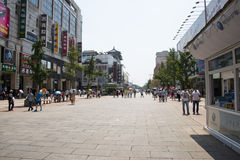 Asia, China, Beijing Wangfujing street, commercial street Royalty Free Stock Photography