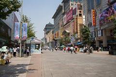 Asia, China, Beijing Wangfujing street, commercial street Stock Image
