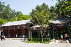 Asia China, Beijing, Wanshou Park, Landscape architecture, Pavilion. Asia China, Beijing, Wanshou Park, city park, Landscape architecture, antique style pavilion Stock Photography