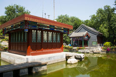 Asia China, Beijing, Wanshou Park, Landscape architecture, Pavilion Royalty Free Stock Photography