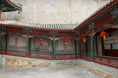 Asia China, Beijing, White Cloud Temple ,Landscape architecture,Pavilion, Gallery Stock Images