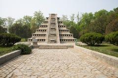 Asia China, Beijing, the world park,Miniature landscape, tashin niches in Pyramid. China Asia, Beijing, the world park, the famous historic sites and scenic Royalty Free Stock Photography