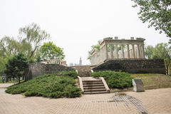 Asia China, Beijing, the world park, miniature landscape, the Acropolis of Athens Stock Image