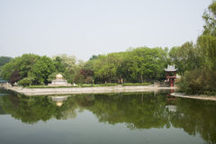 Asia China, Beijing, the world park,miniature landscape,The core of temple, One Pillar Pagoda Royalty Free Stock Photos