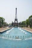 Asia China, Beijing, the world park, miniature landscape, Eiffel Tower Stock Image