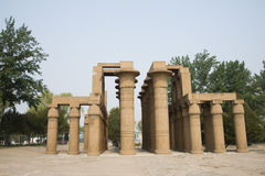 Asia China, Beijing, the world park,miniature landscape,The temple of Karnak Royalty Free Stock Photography