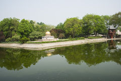 Asia China, Beijing, the world park,miniature landscape,The core of temple, One Pillar Pagoda Stock Photo