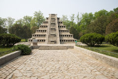 Asia China, Beijing, the world park,Miniature landscape, tashin niches in Pyramid Royalty Free Stock Photography