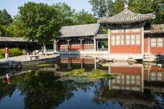 Asia China, Beijing, Xuanwu Yiyuan, summer landscape,courtyard Royalty Free Stock Photo