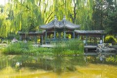 Asia China, Beijing, Xuanwu Yiyuan, summer landscape, pavilion Gallery Stock Images