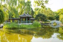 Asia China, Beijing, Xuanwu Yiyuan, summer landscape, pavilion Gallery Stock Image