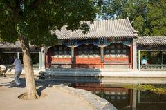 Asia China, Beijing, Xuanwu Yiyuan, summer landscape, waterside pavilion, Stock Photography