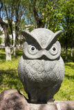 Asia China, Beijing, Yang Shan Park, landscape sculpture,owl Stock Photo