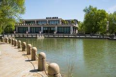 Asia, China, Beijing, yangshan park, Lake, stone railings Stock Photography