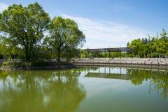 Asia, China, Beijing, yangshan park, lake view Stock Images