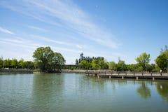 Asia, China, Beijing, yangshan park, Lake view, Stock Photo