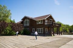Asia, China, Beijing, yangshan park, Wooden house, Royalty Free Stock Photo
