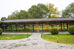 Asia China, Beijing, Zhongshan Park, antique buildings,The Long Corridor Royalty Free Stock Photography