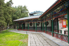 Asia China, Beijing, Zhongshan Park, antique buildings,Pavilion, Gallery Royalty Free Stock Photos