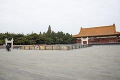 Asia China, Beijing, Zhongshan Park, Historic building, Asia Chinese, Beijing, Zhongshan Park, the altar, Zhongshan Hall Royalty Free Stock Photography