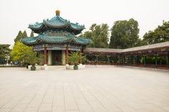 Asia China, Beijing, Zhongshan Park,Lanting Pavilion, eight column Pavilion Royalty Free Stock Photo