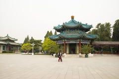Asia China, Beijing, Zhongshan Park,Lanting Pavilion, eight column Pavilion Stock Photo