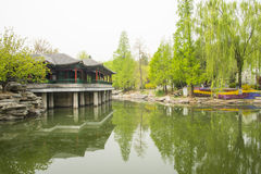 Asia China, Beijing, Zhongshan Park, The Long Corridor Royalty Free Stock Images