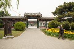 Asia China, Beijing, Zhongshan Park, The Long Corridor Stock Photos