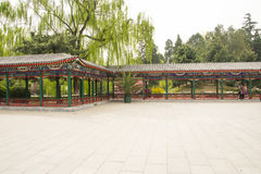 Asia China, Beijing, Zhongshan Park, The Long Corridor Stock Photo