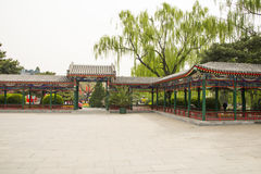 Asia China, Beijing, Zhongshan Park, The Long Corridor Stock Photography