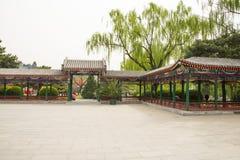 Asia China, Beijing, Zhongshan Park, The Long Corridor Stock Photography