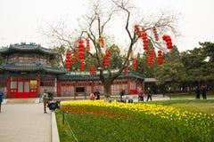 Asia China, Beijing, Zhongshan Park, Tang Huawu Stock Photos
