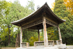 Asia China, Beijing, Zhongshan Park, Wooden pavilion Royalty Free Stock Photography